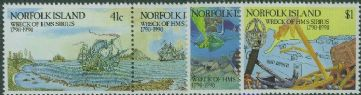 NFI SG479a-82 Bicentenary of Wreck of HMS Sirius set of 4 including pair